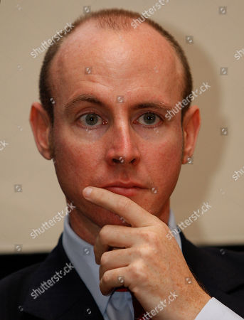 Conservative MEP for South East England Daniel Hannan is seen at a fringe meeting at the Conservative Party Conference, Manchester, England, . Britain's Conservative Party is holding its last annual conference before next year's national election, which polls show is all but certain to put party back in power after more than a decade