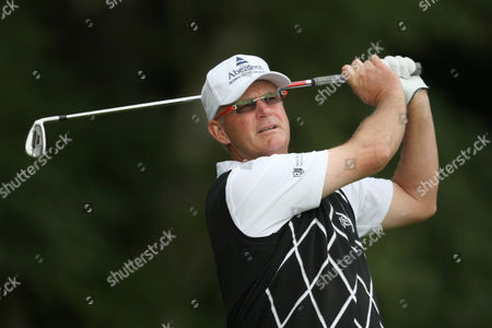 """Sandy Lyle Scotland's Sandy Lyle plays from the fourth tee during the first round of the Senior Open Championship at the Sunningdale golf course, in Sunningdale, England. Two-time major champion Sandy Lyle and British commentator Peter Alliss have been selected Thursday Dec. 15, 2011 for the World Golf Hall of Fame. Lyle was elected through the international ballot after winning 29 tournaments worldwide, including the 1985 British Open and the 1988 Masters, where he became the first British winner at Augusta. The 53-year-old Scotsman says """"to be placed in the company of the greatest names in our game is very special"""