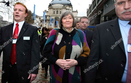 """Clare Short Britain's former International Development Secretary Clare Short, escorted by security, leaves after giving testimony at a hearing of the Iraq Inquiry, at the Queen Elizabeth II Conference Center, London . Short said Tuesday that she warned then-Prime Minister Tony Blair that the U.S. and its allies were unprepared to deal with the aftermath of invading Iraq. Short, who quit as international development secretary shortly after the March 2003 invasion, made a stinging attack on her former boss at Britain's Iraq Inquiry, saying Blair's inner circle was guilty of """"secretiveness and deception"""" over the decision to go to war"""