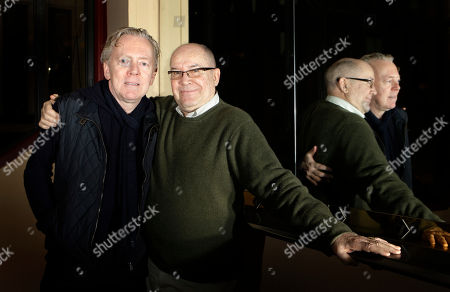 "Jack O'Brien, Bob Crowley In this Feb. 8, 2010 photo, theater director Jack O'Brien, right, and set designer Bob Crowley, of ""Love Never Dies,"" the musical sequel to ""The Phantom of the Opera,"" pose after an interview at the Adelphi Theatre in London, . The musical is scheduled to open at the Adelphi in the West End on March 9 and on Broadway on November 11"
