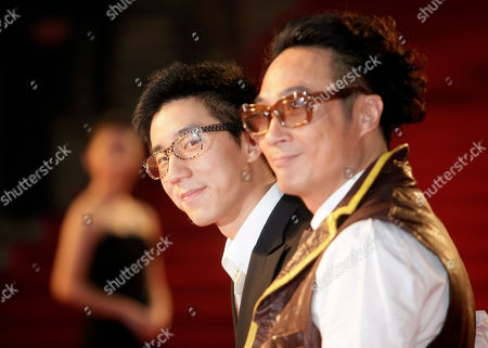 Jaycee Chan; Francis Ng Hong Kong actors Jaycee Chan, left, and Francis Ng, right, pose on the red carpet prior to the opening ceremony of the 12th Shanghai International Film Festival at Shanghai Grand Theater in Shanghai. China. The festival will run until June 21 in China's financial capital
