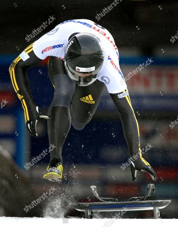 Michi Halilovic Michi Halilovic of Germany starts to the second run to win the FIBT Skeleton Men's World Cup competition in Altenberg, Germany