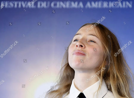 "Isild Le Besco French actress Isild Le Besco, seen, during a photocall for the movie"" The Good Heart"" at the 35th American Film Festival, in Deauville, Normandy, France"