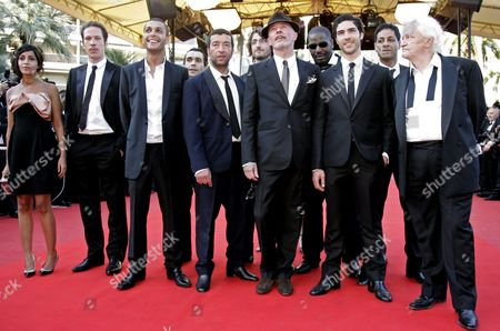 Leila Bekhti, Jaques Audiard, Tahar Rahim, Niels Arestrup, Reda Kateb, Hichem Yacoubi From left, French actors Leila Bekhti, Reda Kateb, Hichem Yacoubi, Adel Bencherif, French director Jacques Audiard, French actors Tahar Rahim and Niels Arestrup during the 62nd International film festival in Cannes, southern France