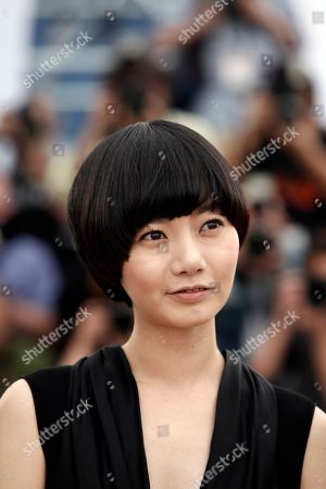 Bae Doo-Na South Korean actress Bae Doo-Na poses at a photo call for 'Kuki Ningyo' (Air Doll), during the 62nd International film festival in Cannes, southern France