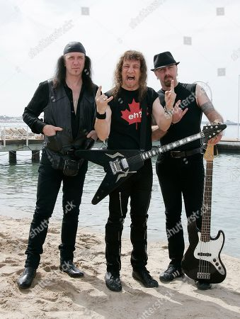 Robb Reiner, Steve Kudlow, G5 From left, Canadian musicians Robb Reiner, Steve Kudlow, and G5 pose during a photo call for the film 'Anvil' at the 62nd International film festival in Cannes, southern France