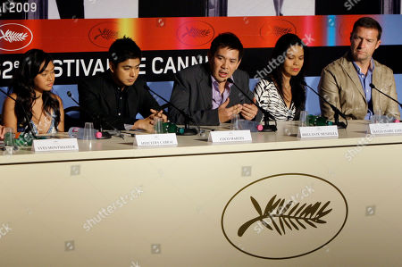 Mercedes Cabral, Coco Martin, Brillante Mendoza, Maria Isabel Lopez, Didier Costet From left, Filipino actors Mercedes Cabral, and Coco Martin, director Brillante Mendoza, actress Maria Isabel Lopez and French producer Didier Costet participate in a press conference for the film 'Kinatay' at the 62nd International film festival in Cannes, southern France