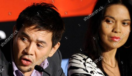 Brillante Mendoza, Maria Isabel Lopez From left, Filipino director Brillante Mendoza, and actress Maria Isabel Lopez participate in a press conference for the film 'Kinatay' at the 62nd International film festival in Cannes, southern France