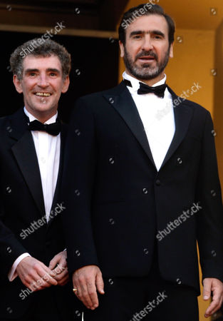 Eric Cantona, Steve Evets French actor and former soccer player Eric Cantona, right, and British actor Steve Evets, left, arrive on the red carpet for the screening of the film 'Looking for Eric', during the 62nd International film festival in Cannes, southern France