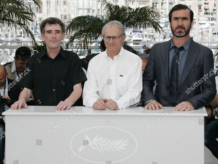 Eric Cantona, Ken Loach, Steve Evets French actor and former soccer player Eric Cantona, right, British Director Ken Loach, center, and British actor Steve Evets, left, pose during a photo call for the film 'Looking for Eric', during the 62nd International film festival in Cannes, southern France