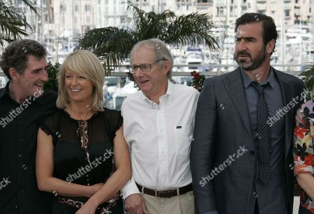 Steve Evets, Stephanie Bishop, Ken Loach, Eric Cantona From left, British actor Steve Evets, British actress Stephanie Bishop, British Director Ken Loach and French actor Eric Cantona during a photo call for the film 'Looking for Eric', during the 62nd International film festival in Cannes, southern France