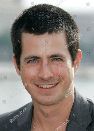 """Craig Olejnik Canadian actor Craig Olejnik, poses for photographers during the MIPTV, an international entertainment content market, held annually in Cannes, southern, France . Olejnik presents the hit show """"The Listener"""