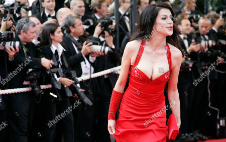 Stock Picture of Jovanka Sopalovic Model Jovanka Sopalovic arrives for the opening ceremony of the 62nd International film festival in Cannes, southern France