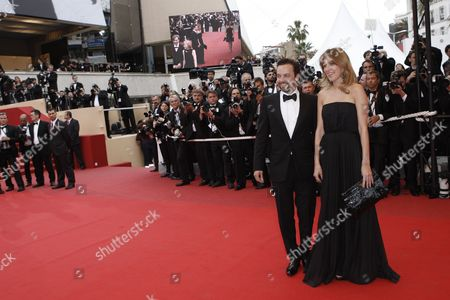 Patrick Mille, Amanda Sthers French writer Amanda Sthers, right, and actor Patrick Mille arrive arrives for the screening of the film 'Chun Feng Chen Zui De Ye Wan' (Spring Fever) during the 62nd International film festival in Cannes, southern France