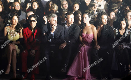 Bria Valente, Prince, Sydney Toledano, Alexis Roche, Katy Perry, Russel Brand, Leigh Lezark From left, U.S. singers Bria Valente, Prince, Dior CEO Sidney Toledano, John Galliano's friend Alexis Roche, U.S. singer Katy Perry and her boyfriend British actor Russel Brand, and American DJ and model Leigh Lezark, right, attend John Galliano' Spring-Summer 2010 fashion collection, presented in Paris