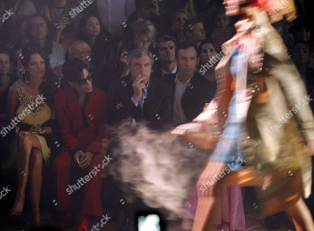 Bria Valente, Prince, Sydney Toledano, Alexis Roche From left, U.S. singers Bria Valente, Prince, Dior CEO Sidney Toledano and John Galliano's friend Alexis Roche attend John Galliano's Spring-Summer 2010 fashion collection, presented in Paris