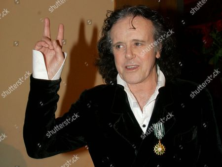 "Donovan Scottish singer-songwriter and guitarist Donovan received The Award of ""Officer of Arts and Letters"" from the French Minister of Culture and Communication, Christine Albanel during the 43rd MIDEM (International record music publishing and video music market) in Cannes, southern France"