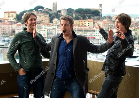 Gareth Hale, Dominic Greensmith, Jesse Wood, The Black Swan Effect Left to right, Gareth Hale, Dominic Greensmith and Jesse Wood of the English pop group The Black Swan Effect, pose at the 44th MIDEM (International record music publishing and video music market) in Cannes, southern France