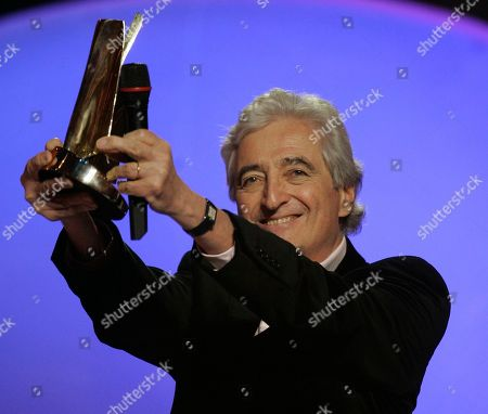 Jean-Loup Dabadie French songwriter Jean-Loup Dabadie celebrates as he receives an Honour award during the 24th Victoires de la Musique annual ceremony, France's top music award, in Paris, France