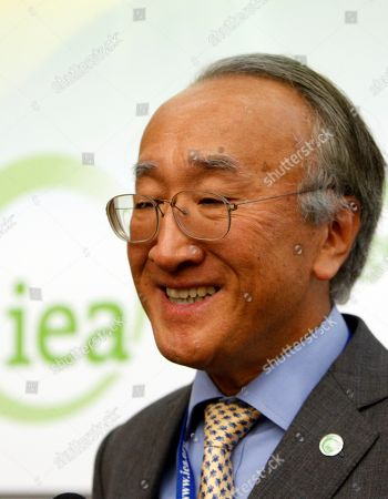 """Nobuo Tanaka International Energy Agency, IEA Executive Director Nobuo Tanaka delivers his speech during a press conference ending the IEA's biennal ministerial level meeting at the Paris-based Organisation for Economic Co-operation and Development (OECD), in Paris, . Tanaka said """"There are concerns that volatility in oil prices is a problem"""
