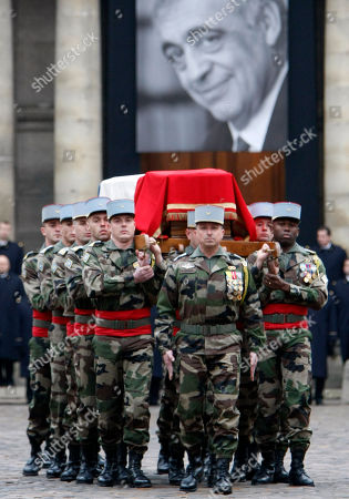 Philippe Seguin French army soldiers carry the coffin of former minister and parliament speaker Philippe Seguin outside Saint-Louis des Invalides church in Paris at the end of his funeral ceremony in Paris, . Philippe Seguin died at the age of 66 of a heart attack