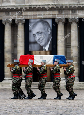 Philippe Seguin French army soldiers carry the coffin of former minister and parliament speaker Philippe Seguin outside Saint-Louis des Invalides church in Paris during his funeral ceremony in Paris, . Philippe Seguin died at the age of 66 of a heart attack