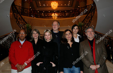 Nuruddin Farah, Cornelia Froboess, Renee Zellweger, Werner Herzog, Francesca Comencini, Yu Nan, Jose Maria Morales The jury of the 60th International Film Festival in Berlin, African writer Nuruddin Farah, German actress Cornelia Froboess, U.S. actress Renee Zellweger, German director and jury President Werner Herzog, Italian director Francesca Comencini, Chinese actress Yu Nan and Spanish producer Jose Maria Morales, from left, pose for photographers in Berlin, Germany, . The Berlinale film festival will be held from Thursday, Feb. 11, until Sunday, Feb. 21, 2010 in the German capital