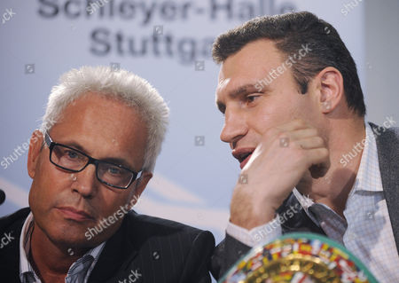 Vitali Klitschko, Bernd Boente Manager Bernd Boente during a press conference in Stuttgart, Germany, on . Vitali Klitschko will face Juan Carlos Gomez for a WBC world championship fight in the Hanns-Martin-Schleyer indoor arena in Stuttgart on March 21, 2009
