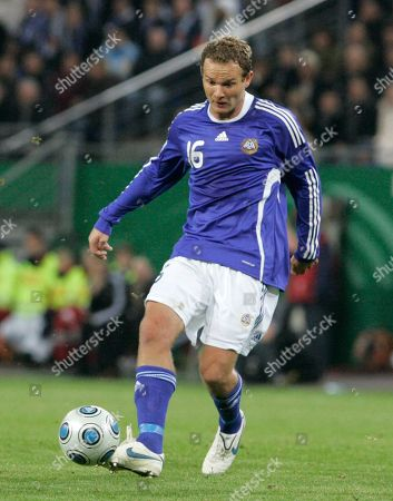 Jonatan Johansson Finland's Jonatan Johansson is seen during the World Cup Group 4 qualifying soccer match between Germany and Finland in Hamburg, northern Germany