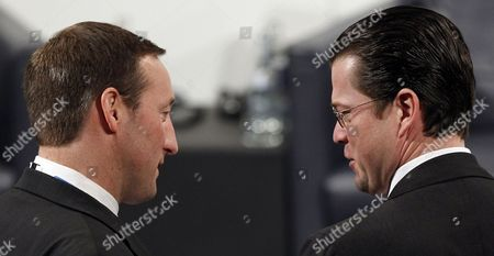 Karl-Theodor zu Guttenberg, Peter Gordon MacKay German Defense Minister Karl-Theodor zu Guttenberg, right, talks with Canadian Defense Minister Peter Gordon MacKay during the annual Munich Security conference in Munich, southern Germany, on