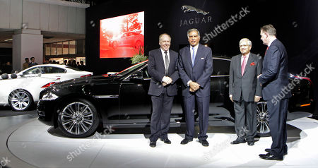 Ratan Tata, Ravi Kant Tata Motors Chairman Ratan Tata, second left, Managing Director Ravi Kant, third left, and other officials pose at the launch of the Jaguar XJ at the 10th Auto Expo in New Delhi, India, . Auto Expo is scheduled from Jan. 5 to 11