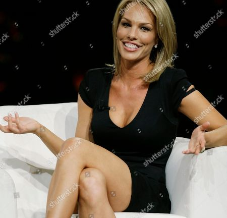 "Cori Rist makes an appearance at the ""Chiambretti night"" TV show to talk about her alleged affair with Tiger Woods, in Milan, Italy"