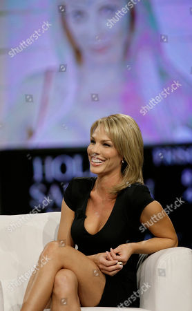 "Stock Picture of Cori Rist makes an appearance at the ""Chiambretti night"" TV show to talk about her alleged affair with Tiger Woods, in Milan, Italy"