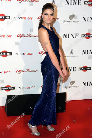 """Alessia Piovan Italian actress and model Alessia Piovan poses on the red carpet at the premiere of the movie """"Nine"""" in Rome"""