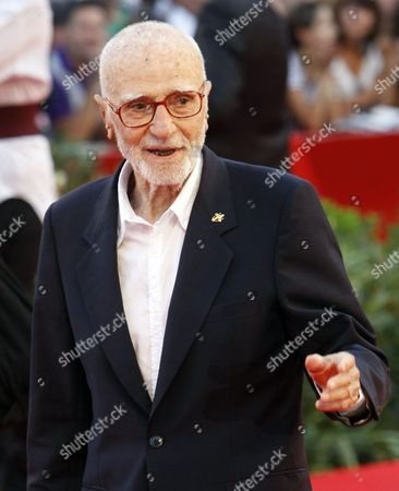 Taken on Sept. 2, 2009, Italian director Mario Monicelli arrives at the 66th edition of the Venice Film Festival in Venice, Italy. Oscar-nominated director Mario Monicelli has died in Rome, after jumping from a fifth-story hospital window. He was 95