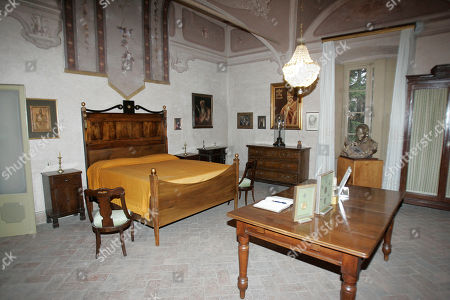 The bedroom where Giovanni Battista Montini, that later became Pope Paul VI, was born in Concesio, near Brescia, Italy, . Pope Benedict XVI will visit the house on Nov. 8, in a visit marking the 30th anniversary of his death
