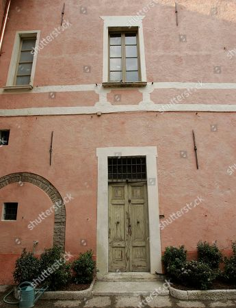 A view of the house where Giovanni Battista Montini, that later became Pope Paul VI, was born in Concesio, near Brescia, Italy, . Pope Benedict XVI will visit the house on Nov. 8, in a visit marking the 30th anniversary of his death. The window over the door is that of his bedroom