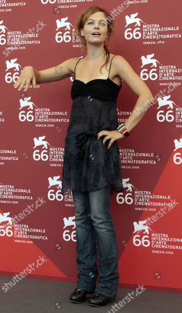 Stock Image of Italian actress Eugenia Costantini poses during a photocall for the movie 'Le Ombre Rosse', at the 66th edition of the Venice Film Festival in Venice, Italy