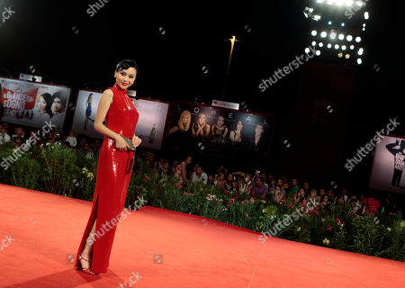 Actress Xuan Zhu arrives for the screening of the film ' Lei Wangzi ' (Prince of Tears) at the 66th edition of the Venice Film Festival in Venice, Italy
