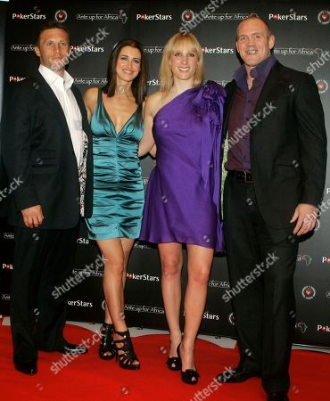 Kirsty Gallacher, Zara Phillips, Paul Sampson, Mike Tindall From left, British rugby player Paul Sampson, British television presenter Kirsty Gallacher, grand daughter of Queen Elizabeth II, Zara Phillips, British rugby player Mike Tindall, seen, before taking part in the 'Ante Up for Africa' European celebrity charity poker tournament, in Monaco