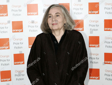 """Marilynne Robinson Author Marilynne Robinson poses for the photographers prior to the ceremony for the 2009 Orange Book prize for fiction in London's Royal Festival Hall. Robinson, cartoonist Roz Chast and former U.S. poet laureate Louise Glueck are among this year's finalists for the National Book Awards. Robinson was cited for """"Lila,"""" the third of an Iowa-based trilogy that began with her Pulitzer Prize-winning """"Gilead."""" Winners will be announced at a Nov. 19 ceremony in Manhattan"""