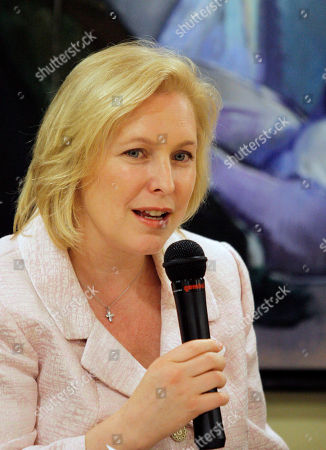 Kirsten Gillibrand In a photo, U.S. Senator Kirsten Gillibrand, D-NY, left, speaks to gathered faculty at Santo Domingo Autonomous University, in Santo Domingo, Dominican Republic.A primary challenge against Sen. Kirsten Gillibrand by Harold Ford Jr. seems increasingly possible as the two camps trade charges their opponent is the wrong fit for New York state