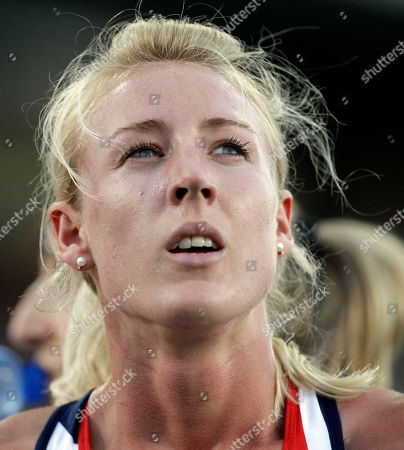 Britain's Jemma Simpson looks at the scoreboard after completing a Women's 800m heat during the European Athletics Championships, in Barcelona, Spain