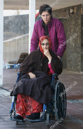 Aminatou Haidar Aminatou Haidar, a western Sahara independence activist who has been on a hunger strike for three weeks, is wheeled at the airport in Lanzarote, Spain, on . Haidar who has been on a hunger strike in Spain for three weeks is now refusing medical care, a spokesman said Monday