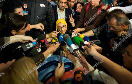 Aminatou Haidar Aminatou Haidar, a western Sahara independence activist who has been on a hunger strike for over a month, speaks to the press after leaving a hospital, in Lanzarote, Spain, . Spanish news reports say an activist from the disputed territory of Western Sahara who has been on hunger strike in Spain for a month has been flown back home