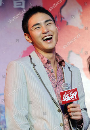 """Ethan Juan Taiwanese actor Ethan Juan laughs during a media event announcing his new film """"Monga"""", in Taipei, Taiwan"""