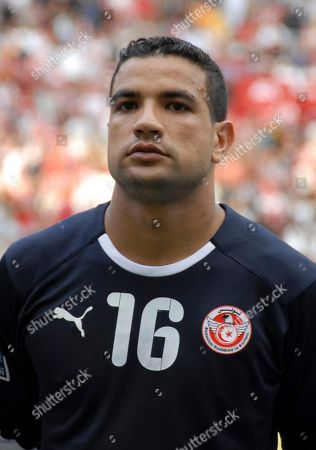 Mathlouthi Aymen Tunisia's goalkeeper Mathlouthi Aymen, before the Tunisian soccer team World Cup 2010 Group B qualifying soccer match in Rades, Tunisia