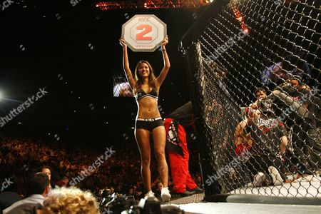 A ring girl during the Dan Hardy Marcus Davis Ultimate Fighting Championship bout in Cologne, Germany, on . The Ultimate Fighting Championship UFC is the world leading professional mixed martial arts MMA organization. **Eds Note: German spelling of Cologne is Koeln