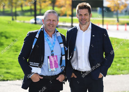 Ireland vs New Zealand. Former All Blacks Sean Fitzpatrick and Richie McCaw