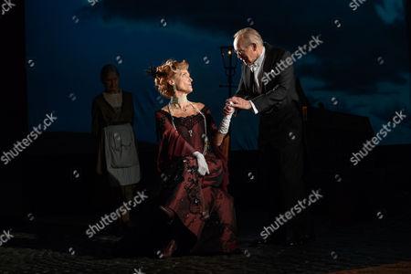 Barbara Marten (Mrs Birling), Clive Francis (Mr Birling)
